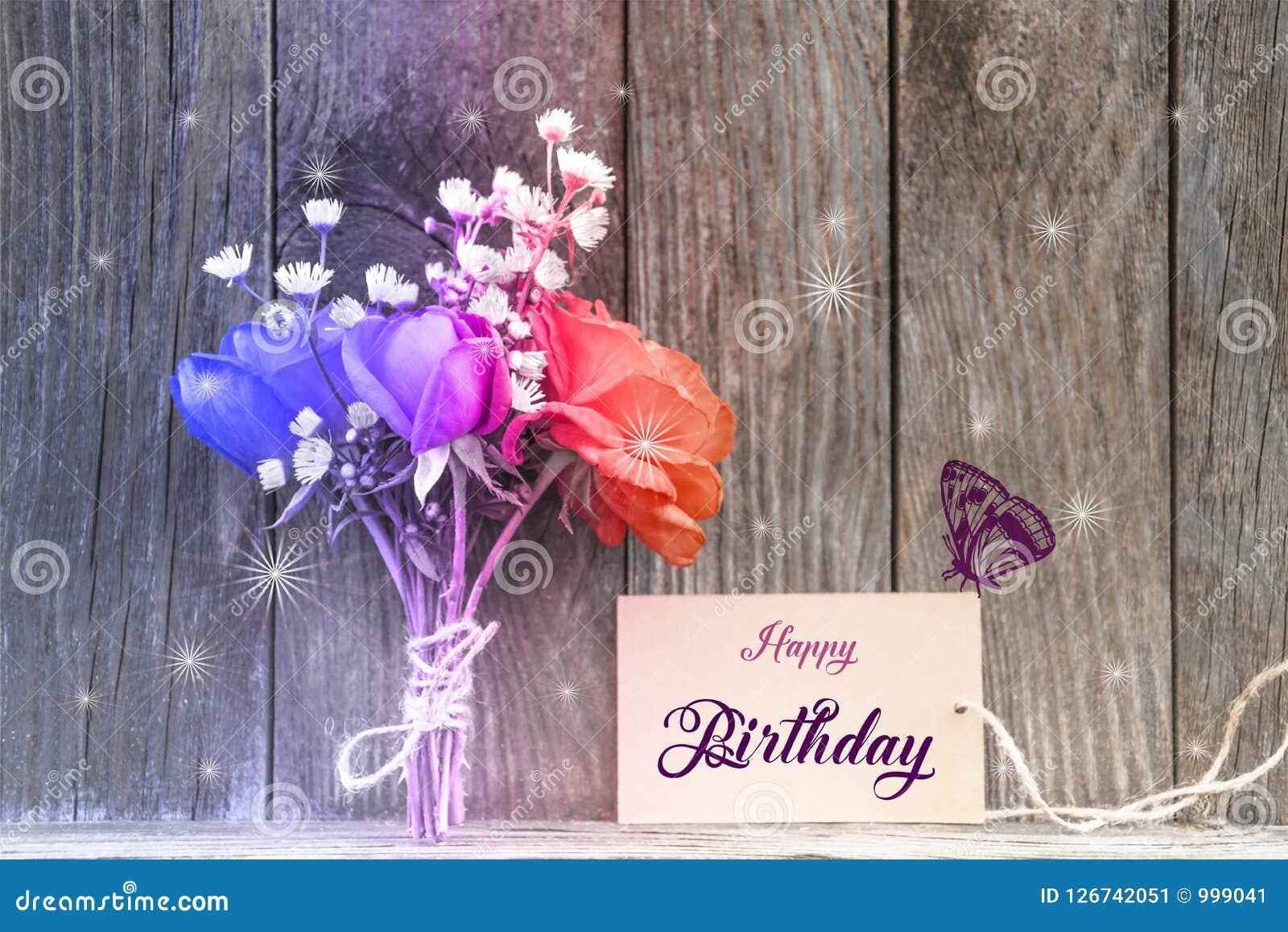 Happy Birthday Card Stock Image Image Of Background 126742051