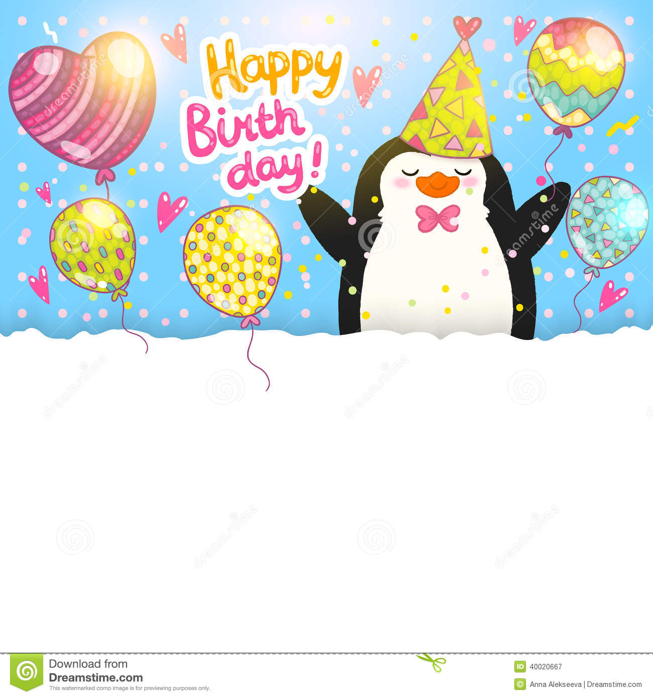 Happy birthday card templates free free email happy birthday cards happy birthday card templates free happy birthday card background with cute penguin stock vector 37 bookmarktalkfo Images