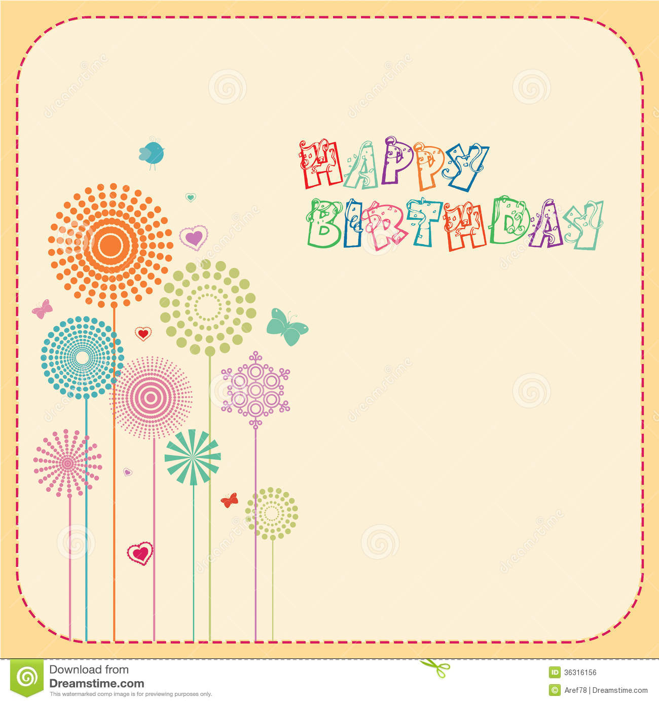 Happy birthday card stock illustration illustration of curve happy birthday card bookmarktalkfo Choice Image