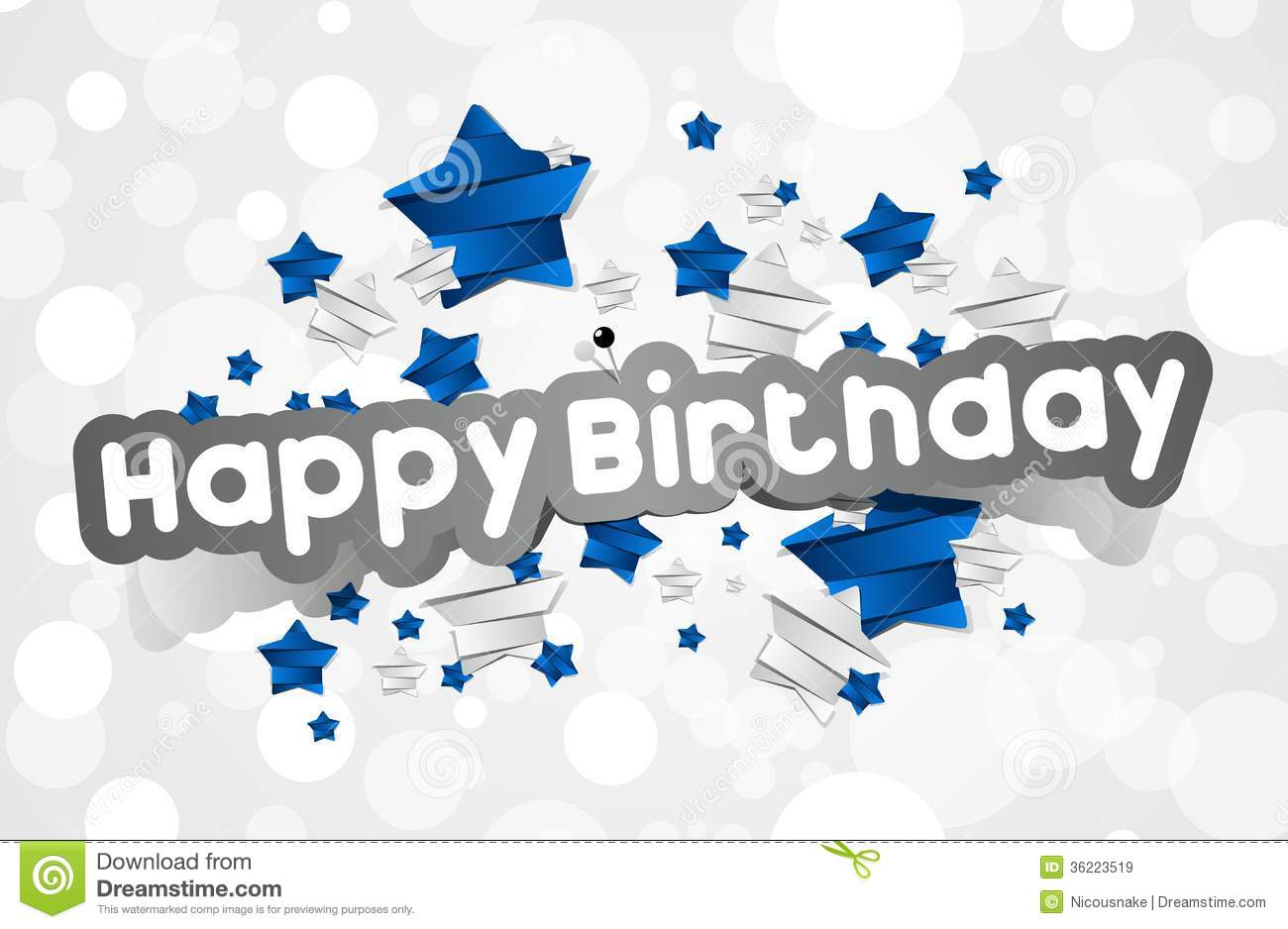 Happy Birthday Card Royalty Free Stock Images - Image: 36223519