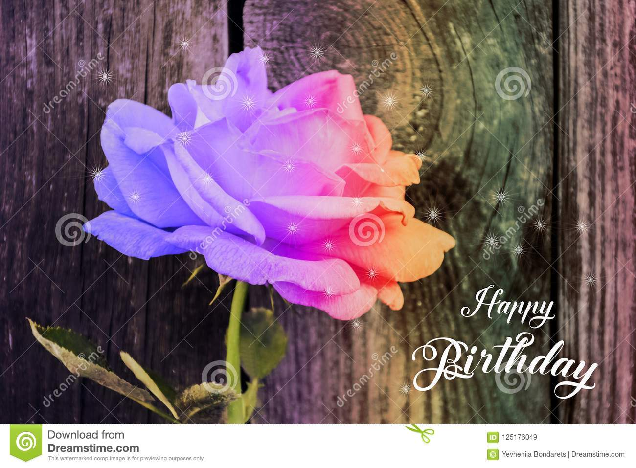 happy birthday card stock image image of petal isolated