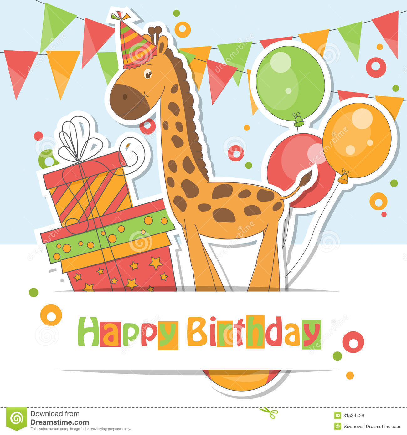 Happy Birthday Card . Royalty Free Stock Images - Image ...