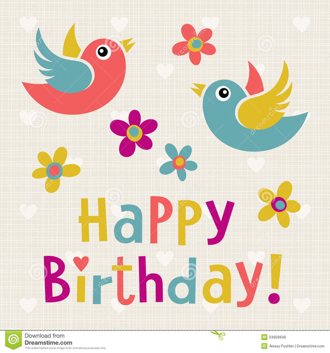 Happy Birthday Royalty Free Stock Photos - Image: 34909848