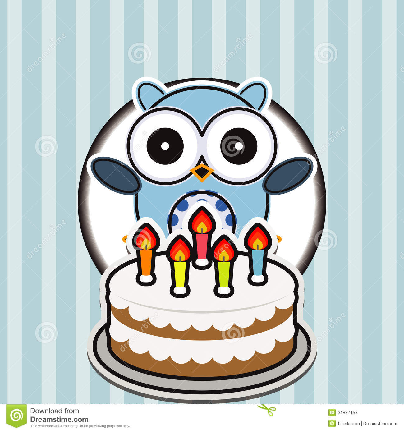 Happy Birthday Card With Cute Owl Royalty Free Photography – Photographer Birthday Card
