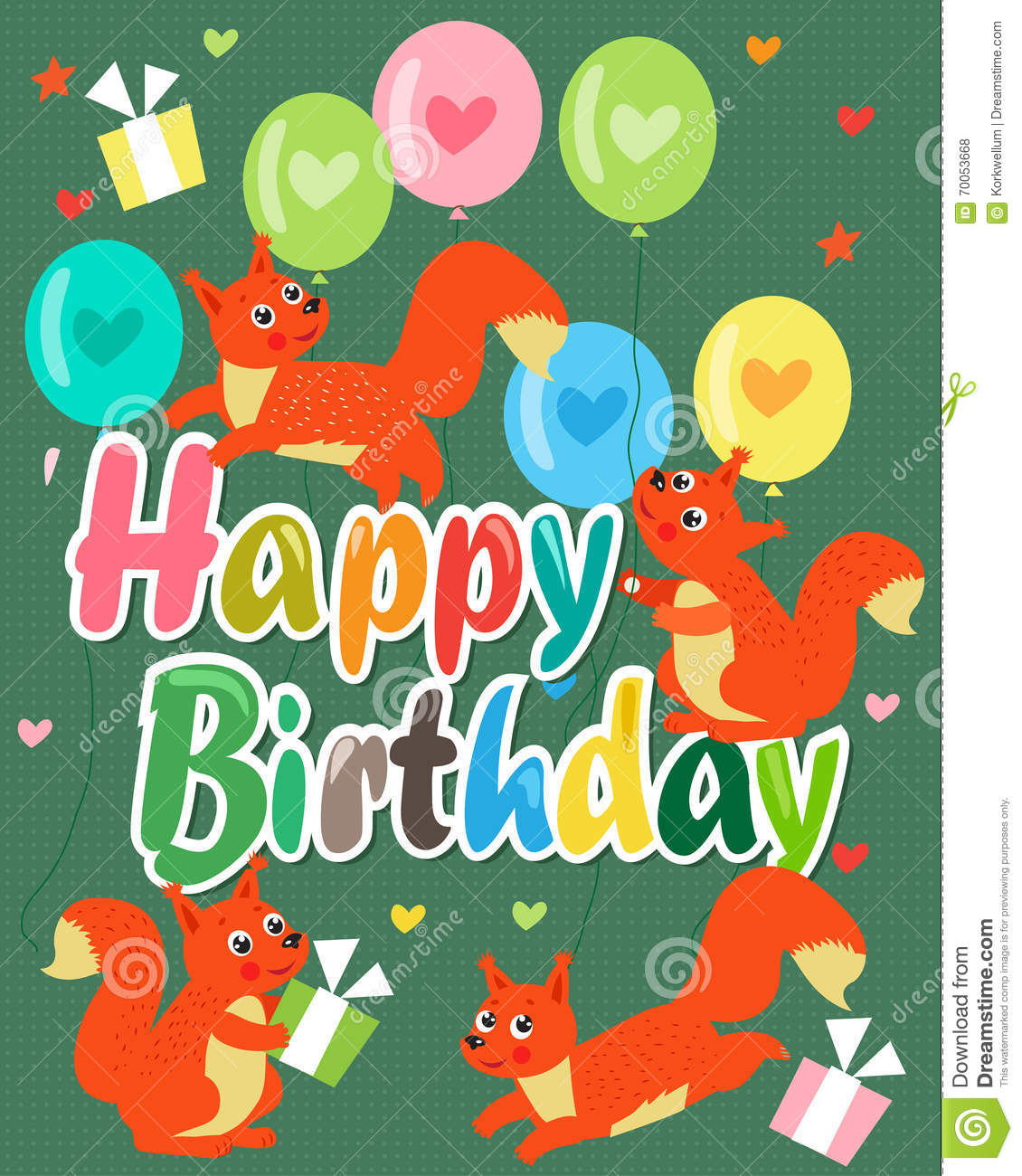 Happy birthday card with cute squirrel vector illustration cute happy birthday card with cute squirrel vector illustration cute baby squirrel bookmarktalkfo Choice Image