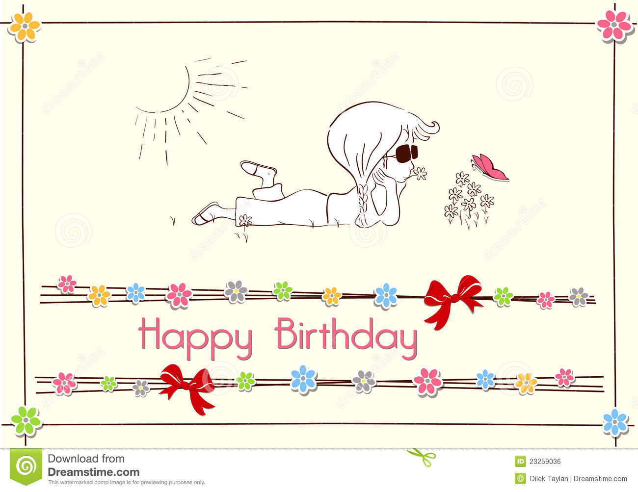 Happy Birthday Card Design Royalty Free Image Image 23259036 – Happy Birthday Card Design Free