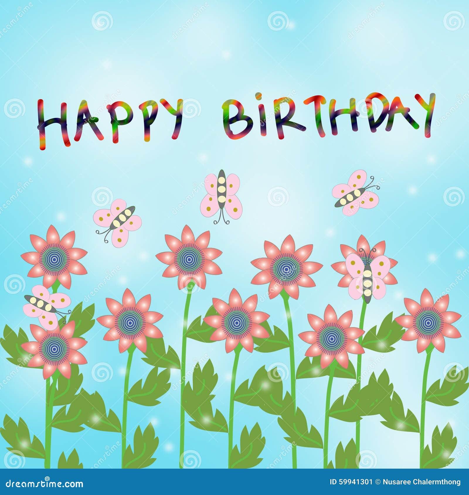 Happy birthday card stock illustration illustration of flowers download happy birthday card stock illustration illustration of flowers 59941301 izmirmasajfo