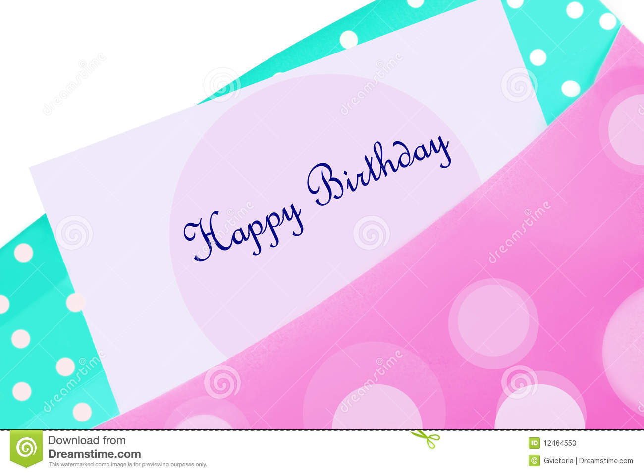 Happy Birthday Card In Envelope Stock Image Image 12464553