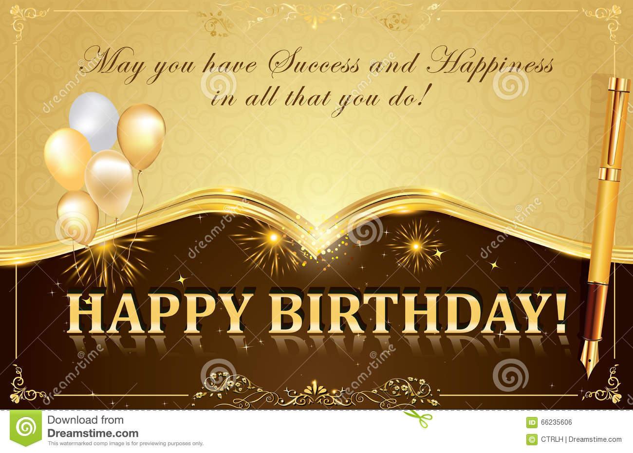 Happy Birthday Card Illustration Image 66235606 – Happy Birthday Greetings to Boss