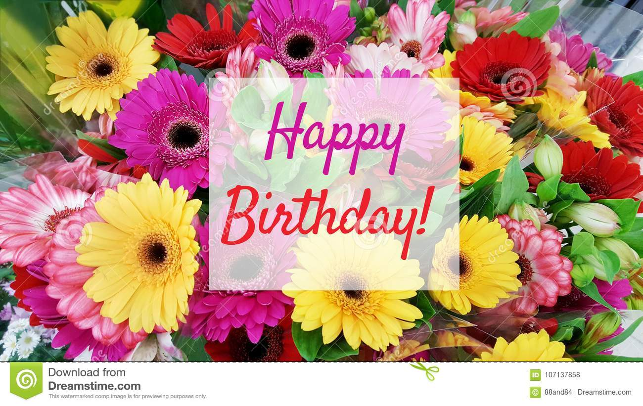 Happy Birthday Card Flowers Choice Image Flower Wallpaper Hd