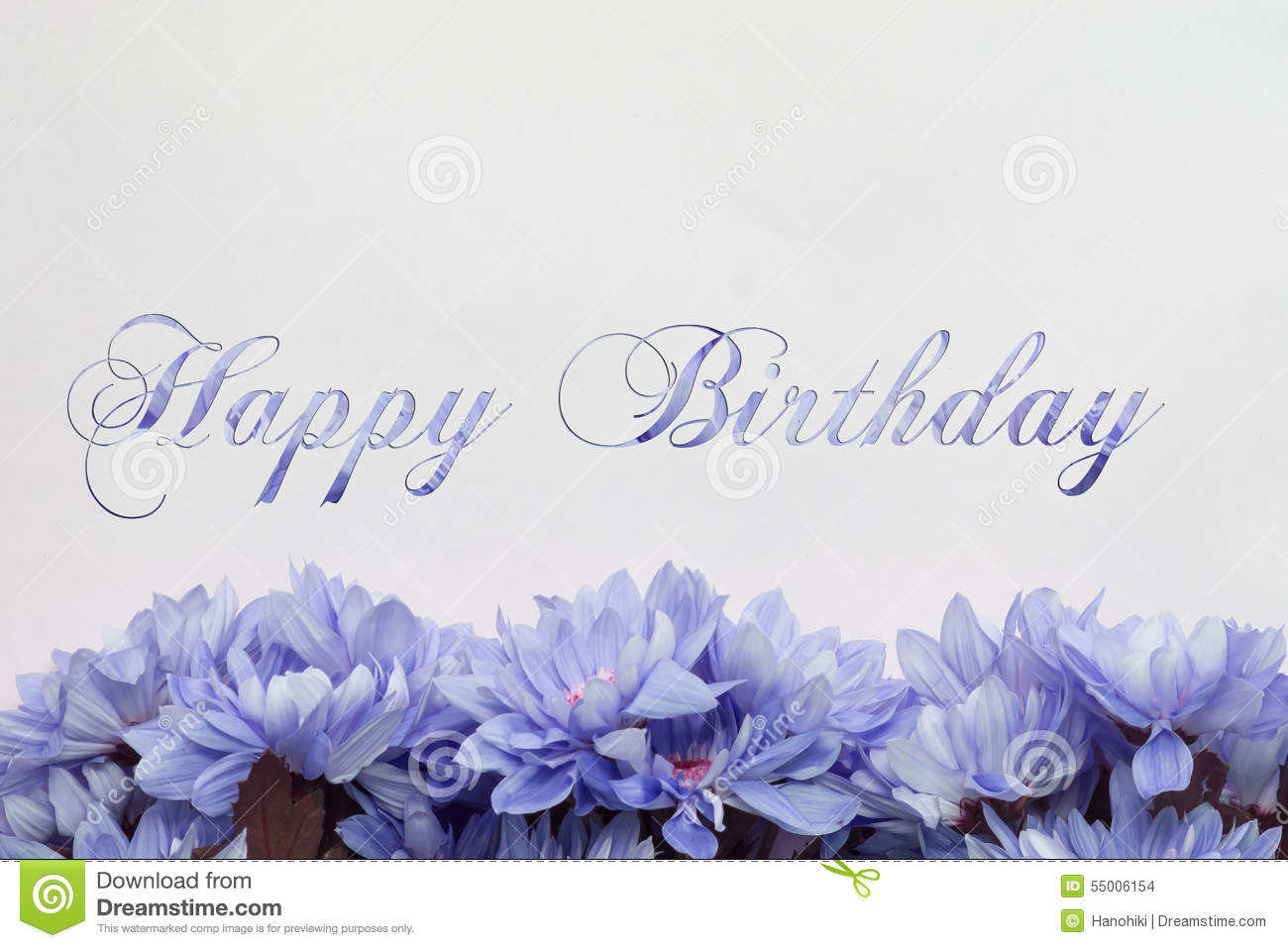 Happy Birthday Card With Flowers Illustration 55006154 Megapixl