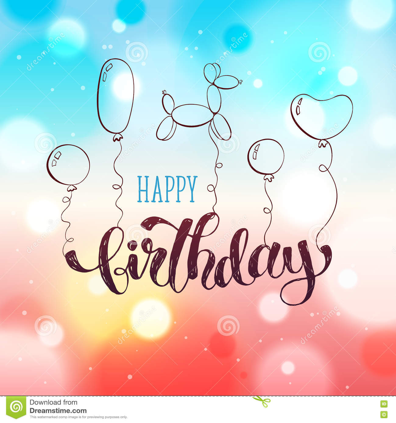 Happy Birthday Card Stock Vector Illustration Of Happy 76131450