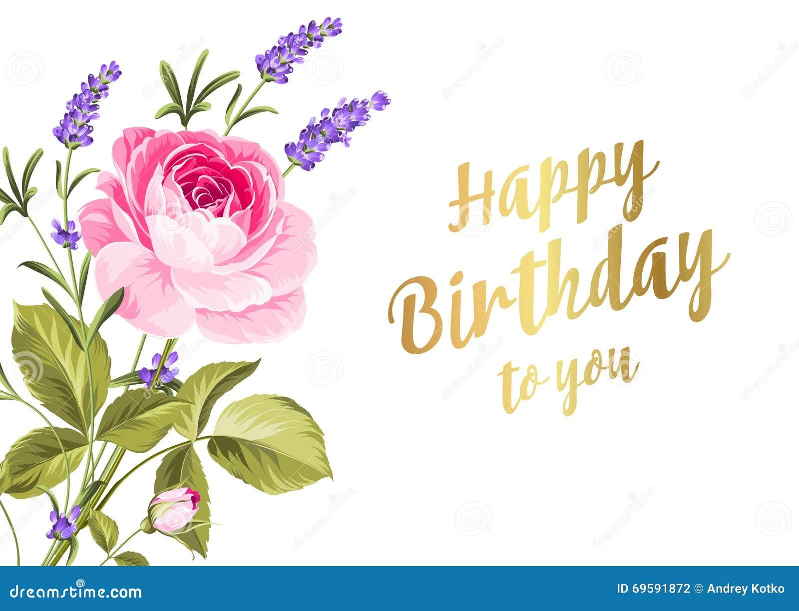 Happy birthday card stock vector illustration of design 69591872 happy birthday card kristyandbryce Gallery