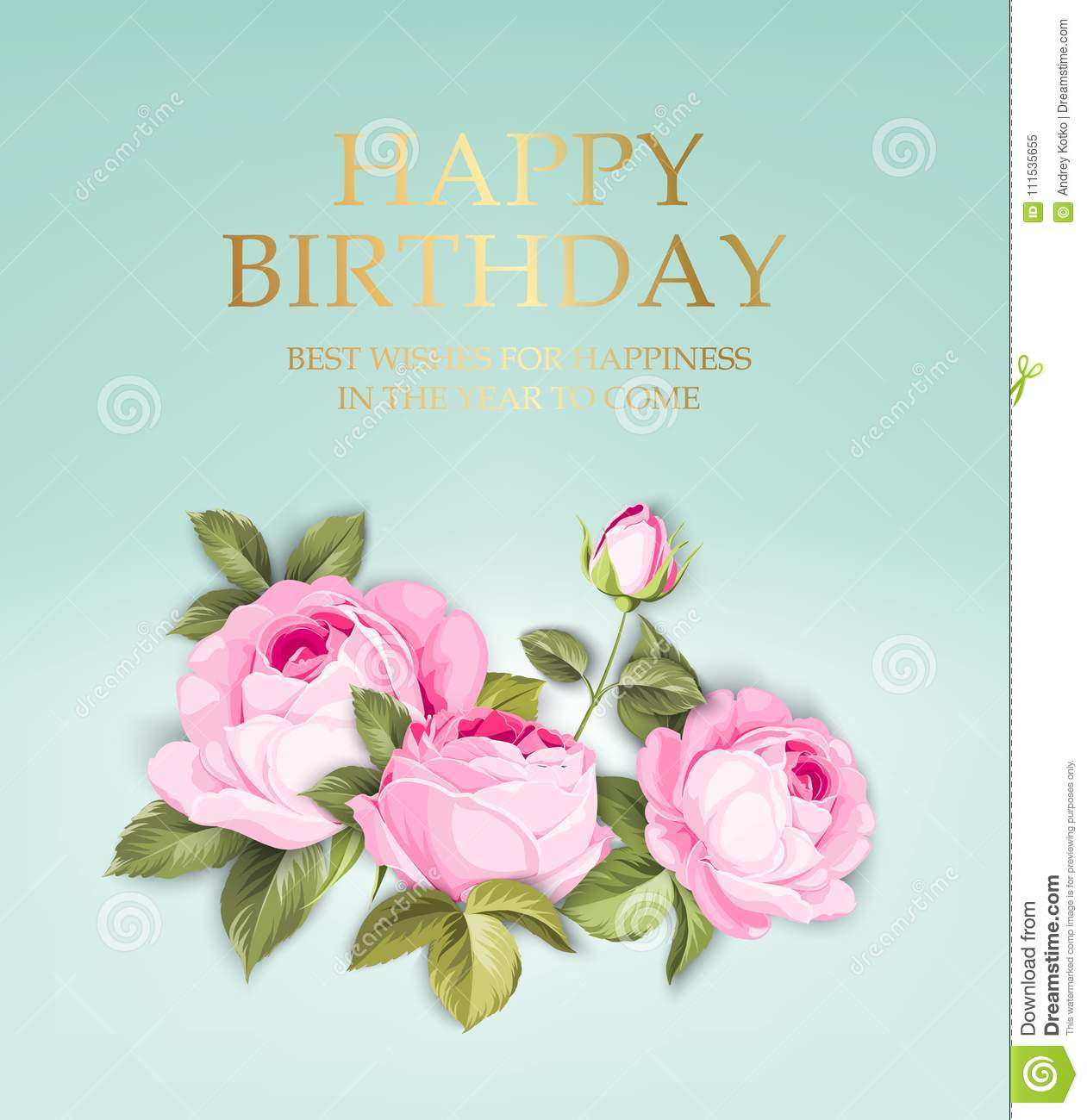 happy birthday card stock vector illustration of label 111535655