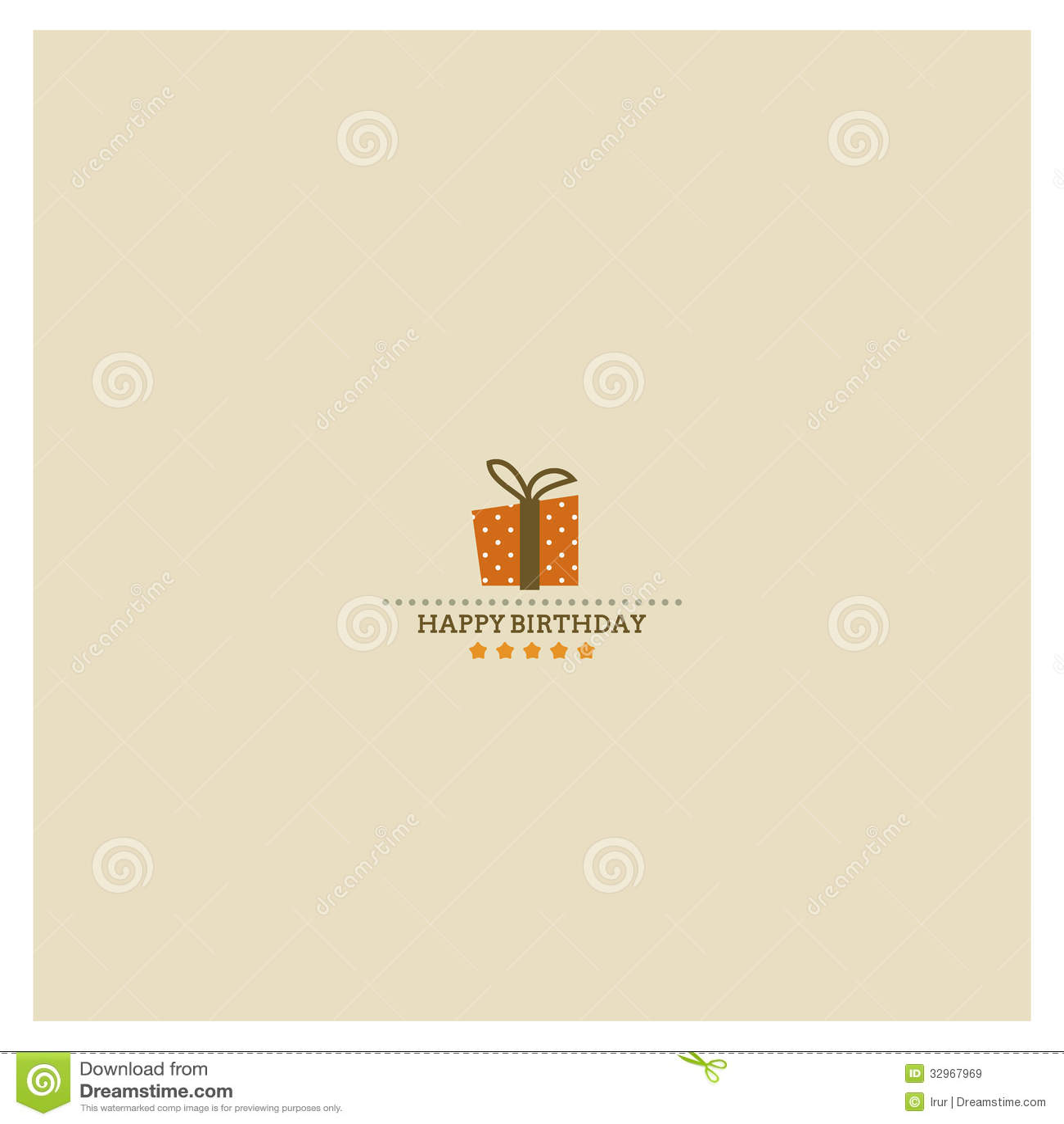 Happy Birthday card with holiday polka dot gift bo