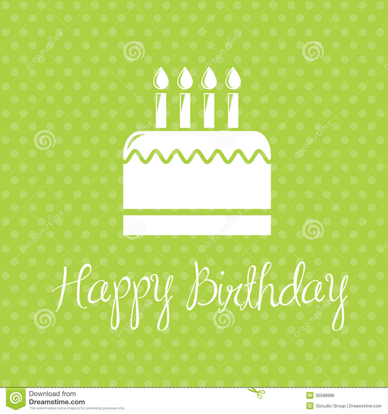 Happy Birthday stock vector Image of icon designs holiday – Green Birthday Card