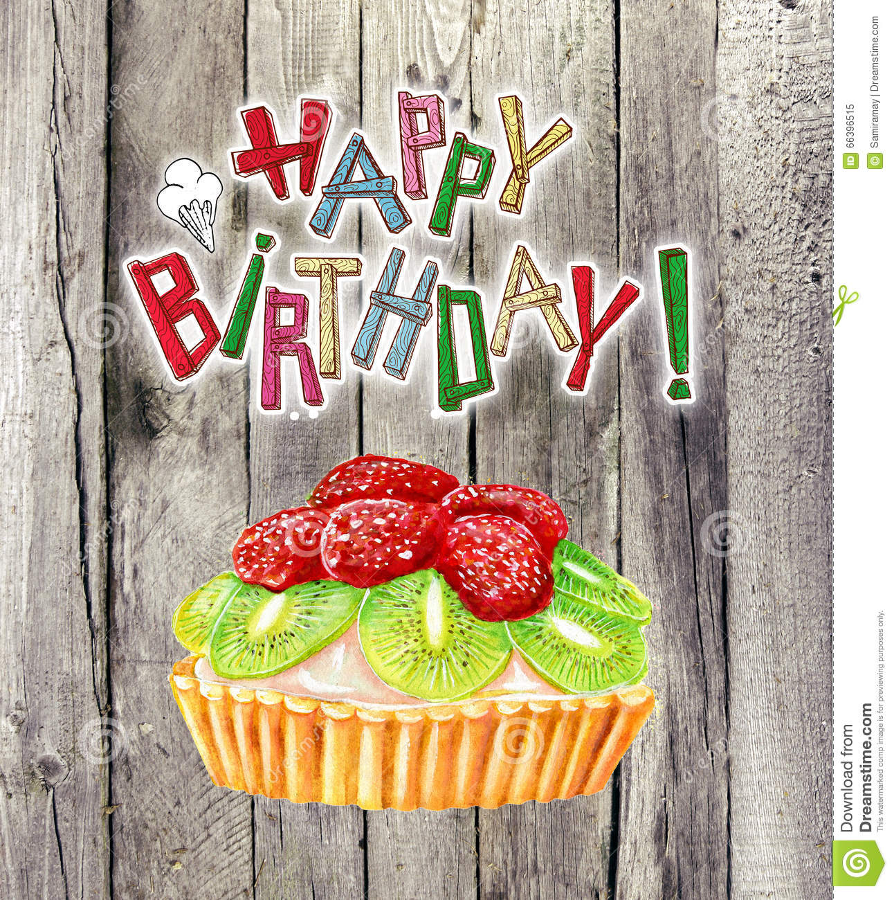 One Birthday Candle Clipart Happy Birthday Card Wi...