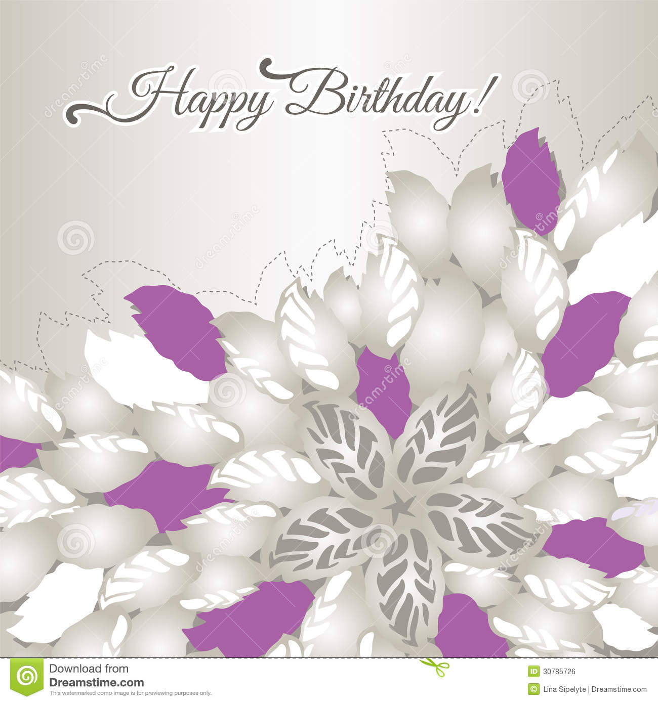 Happy birthday card with pink flowers and leaves royalty free birthday card flowers happy dhlflorist Gallery