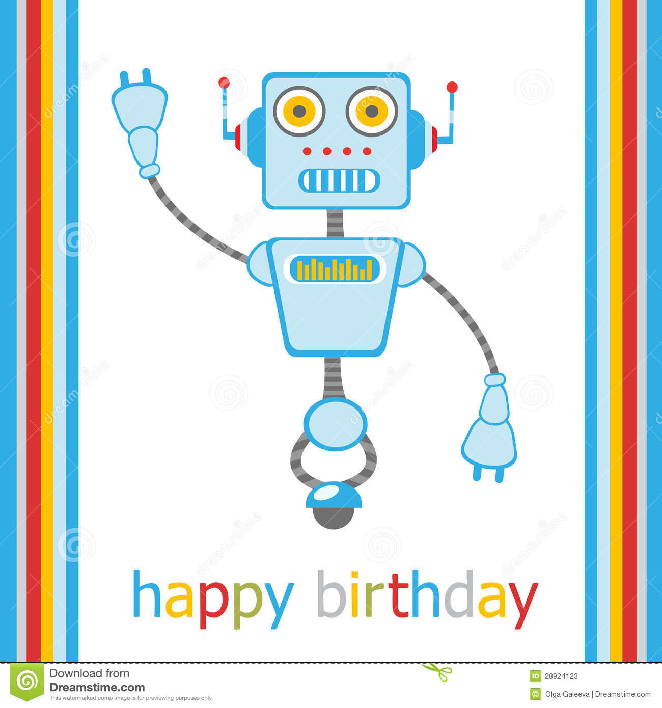 Happy birthday robot pdf writer