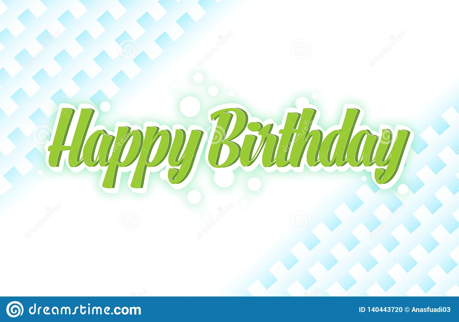 Happy Birthday Card Simple Typography In A Green Design For Print Greetings Shirt Banner Poster