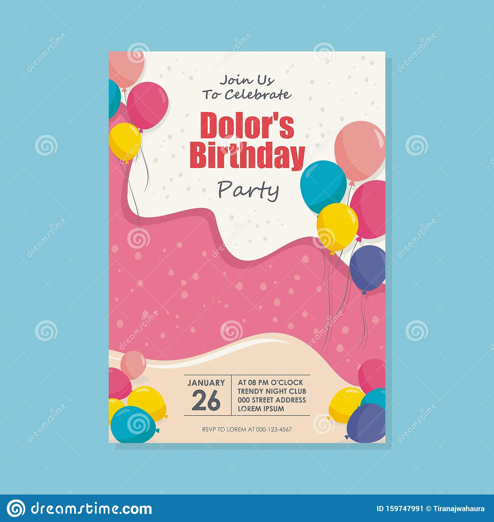 Admirable Happy Birthday Card Template Design With Trendy And Cute Design Personalised Birthday Cards Bromeletsinfo