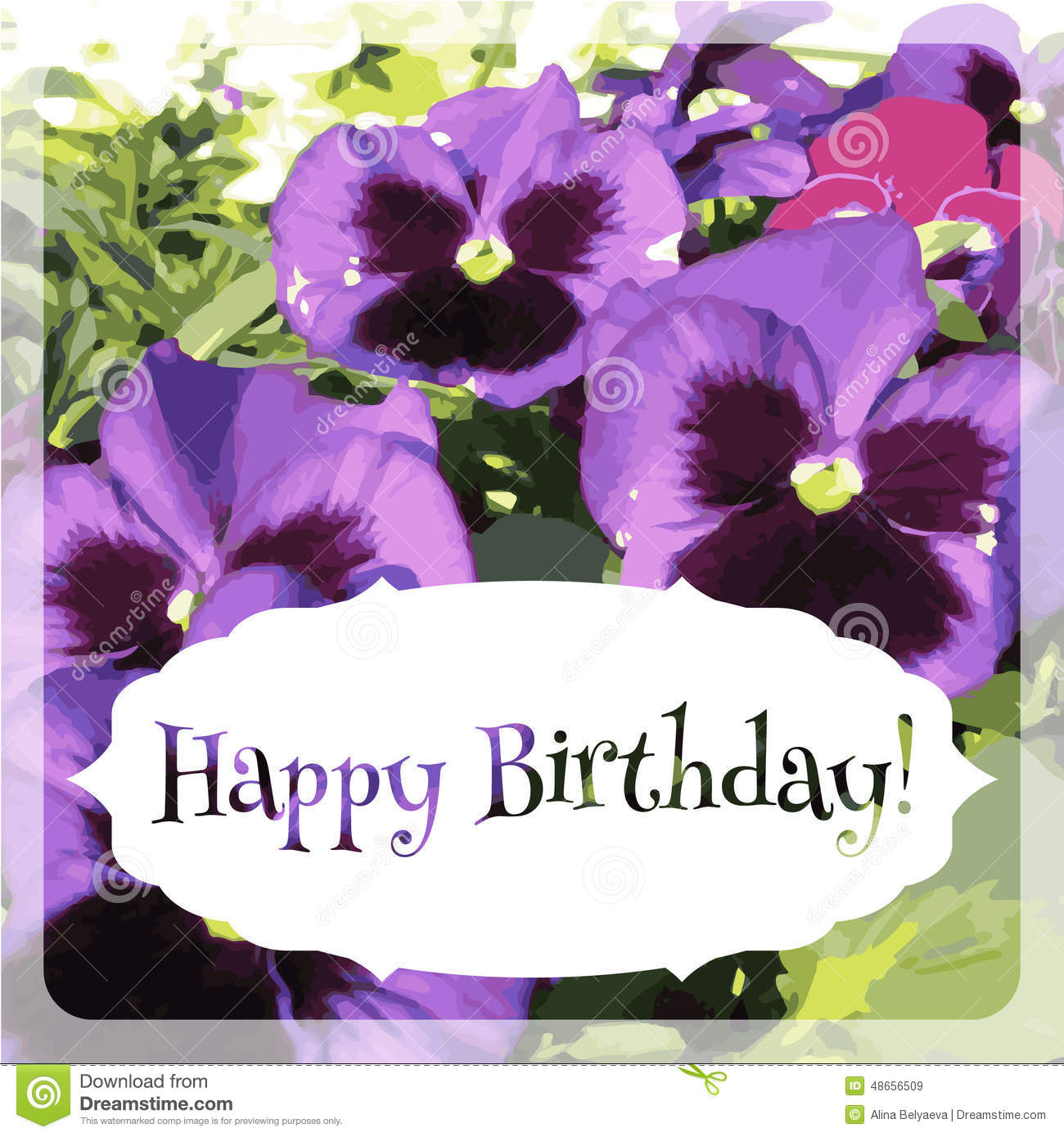 Happy birthday card with text on background with stock vector background birthday card happy dhlflorist Gallery