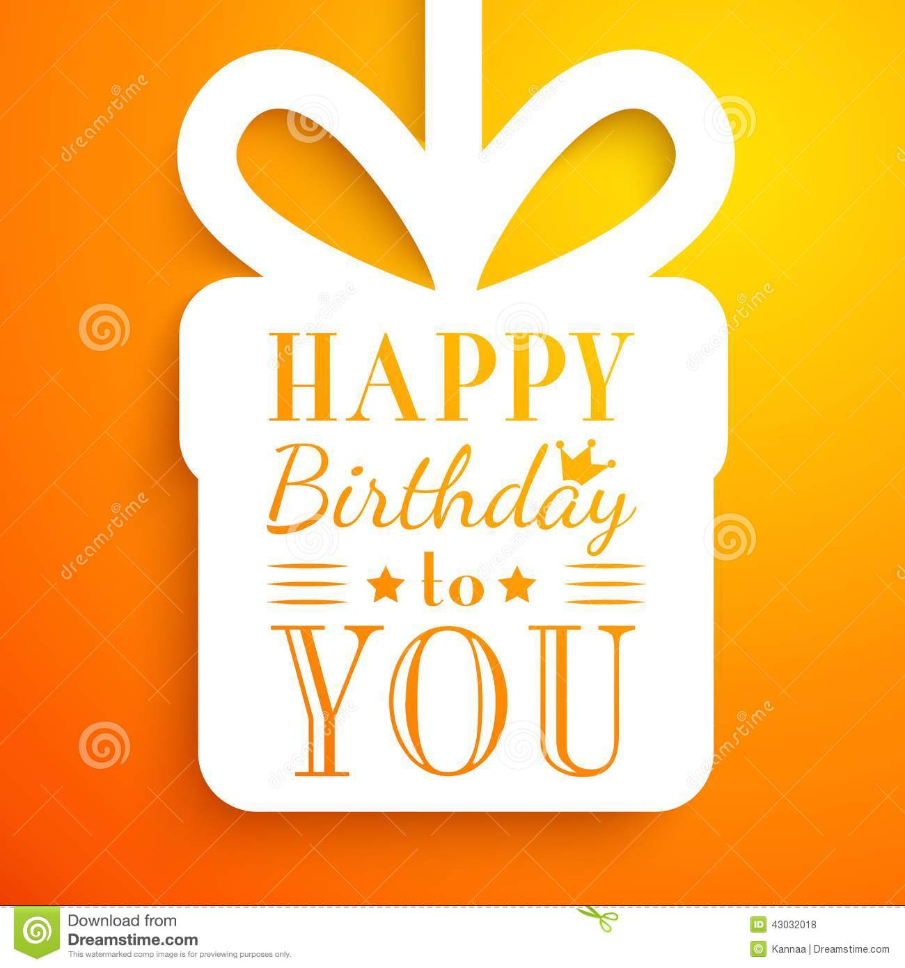 Happy Birthday Card. Typography Letters Font Type Stock Vector - Image ...