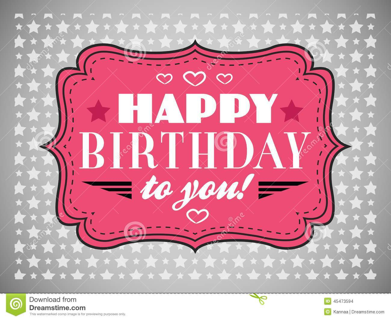 Happy Birthday Greeting Card Collection In Holiday Vector – Birthday Card Font