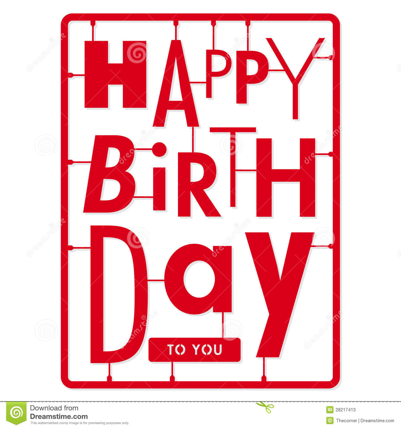 happy birthday card typography letters type font kit stock photos image 28217413