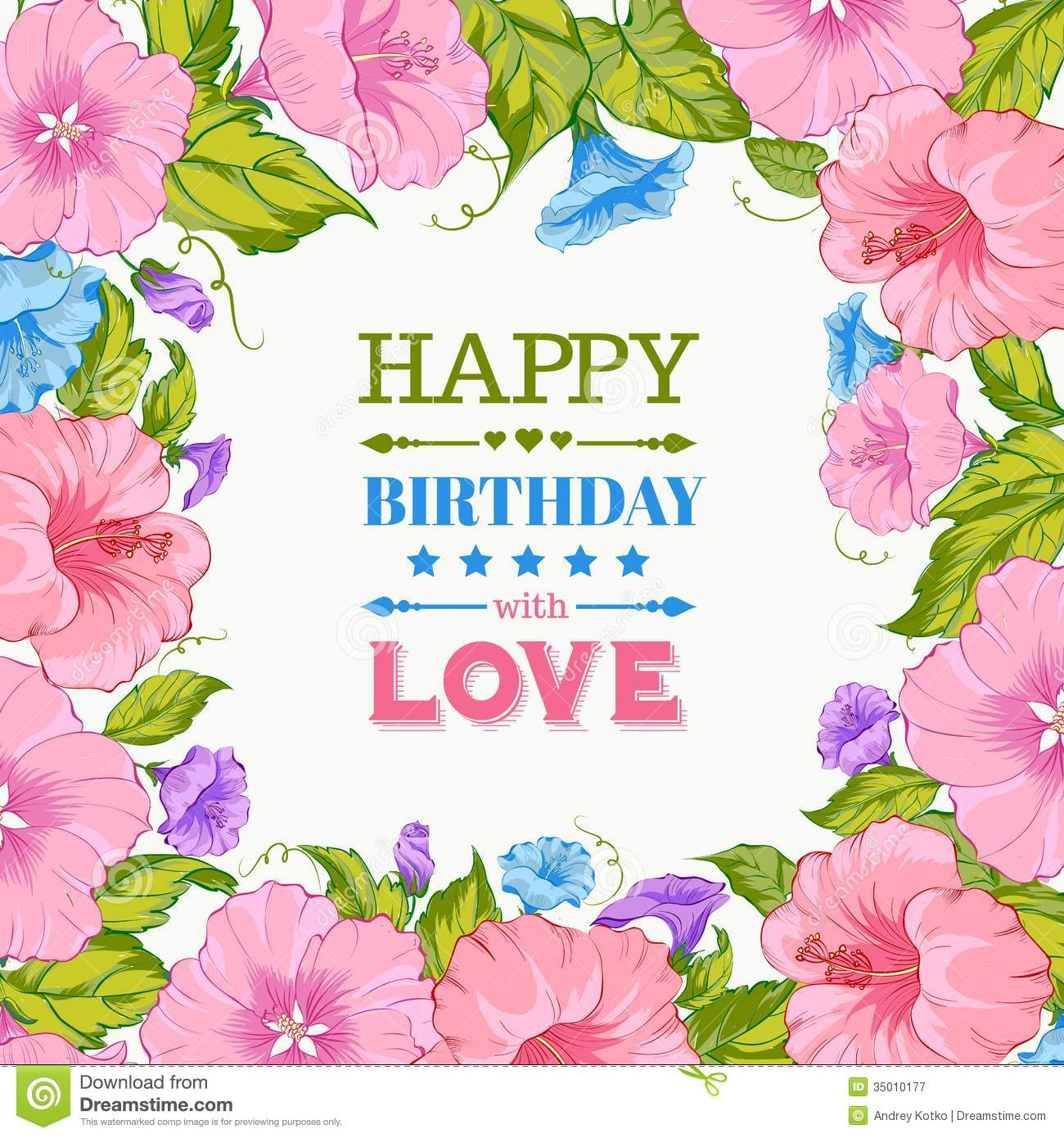Happy Birthday Card.  Birthday Greetings Download Free