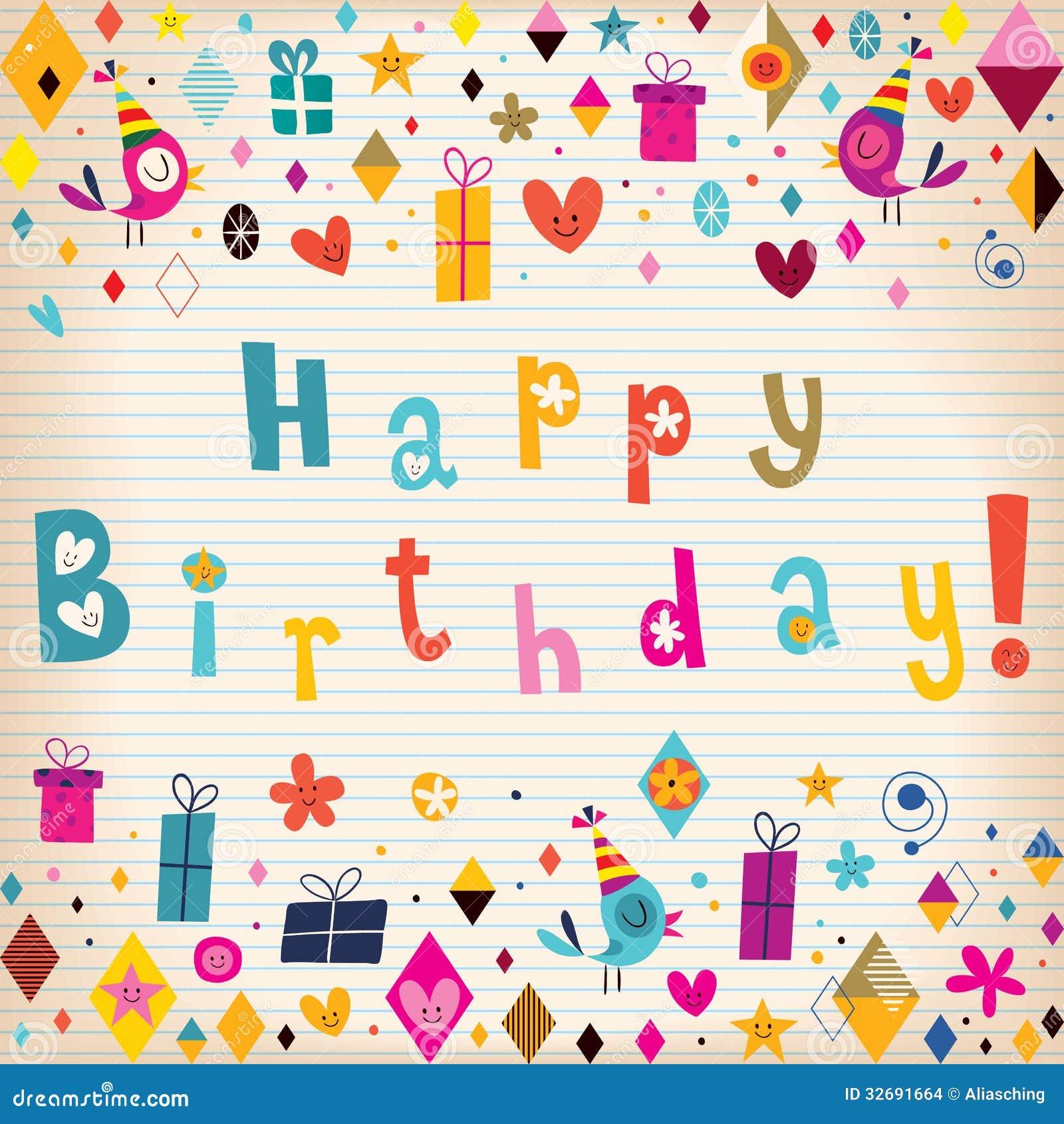Happy Birthday Card Images Image 32691664 – Vintage Happy Birthday Cards