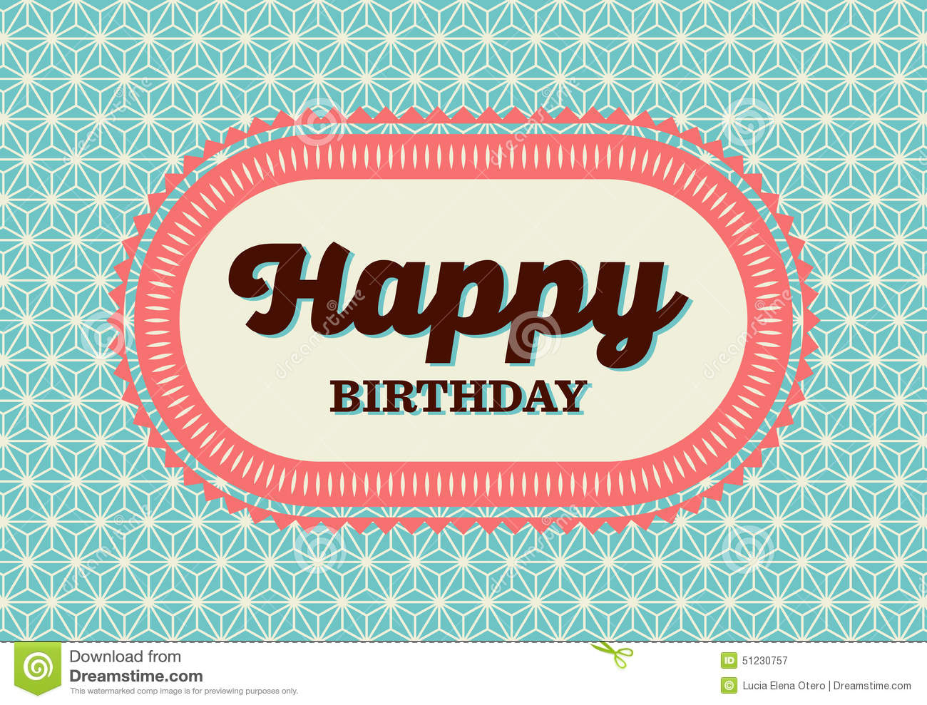 happy birthday card stock vector  image, Birthday card