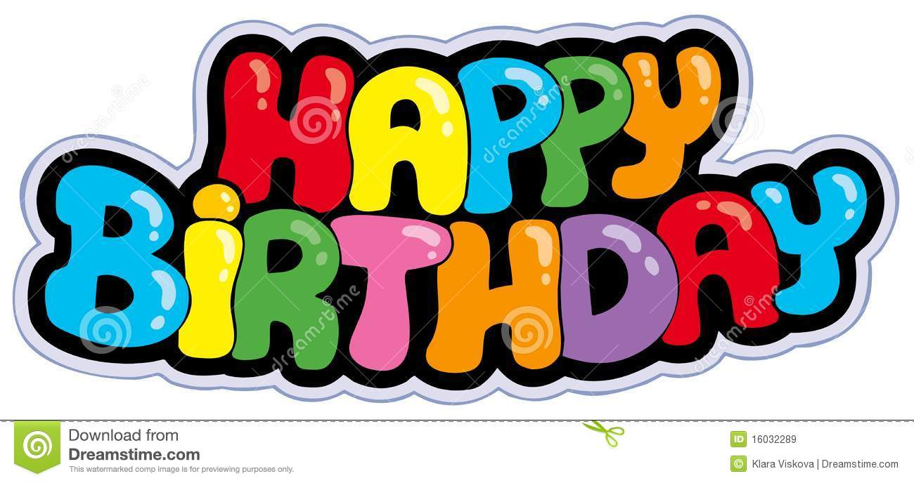 Happy Birthday Sign Illustration 15941984 Megapixl