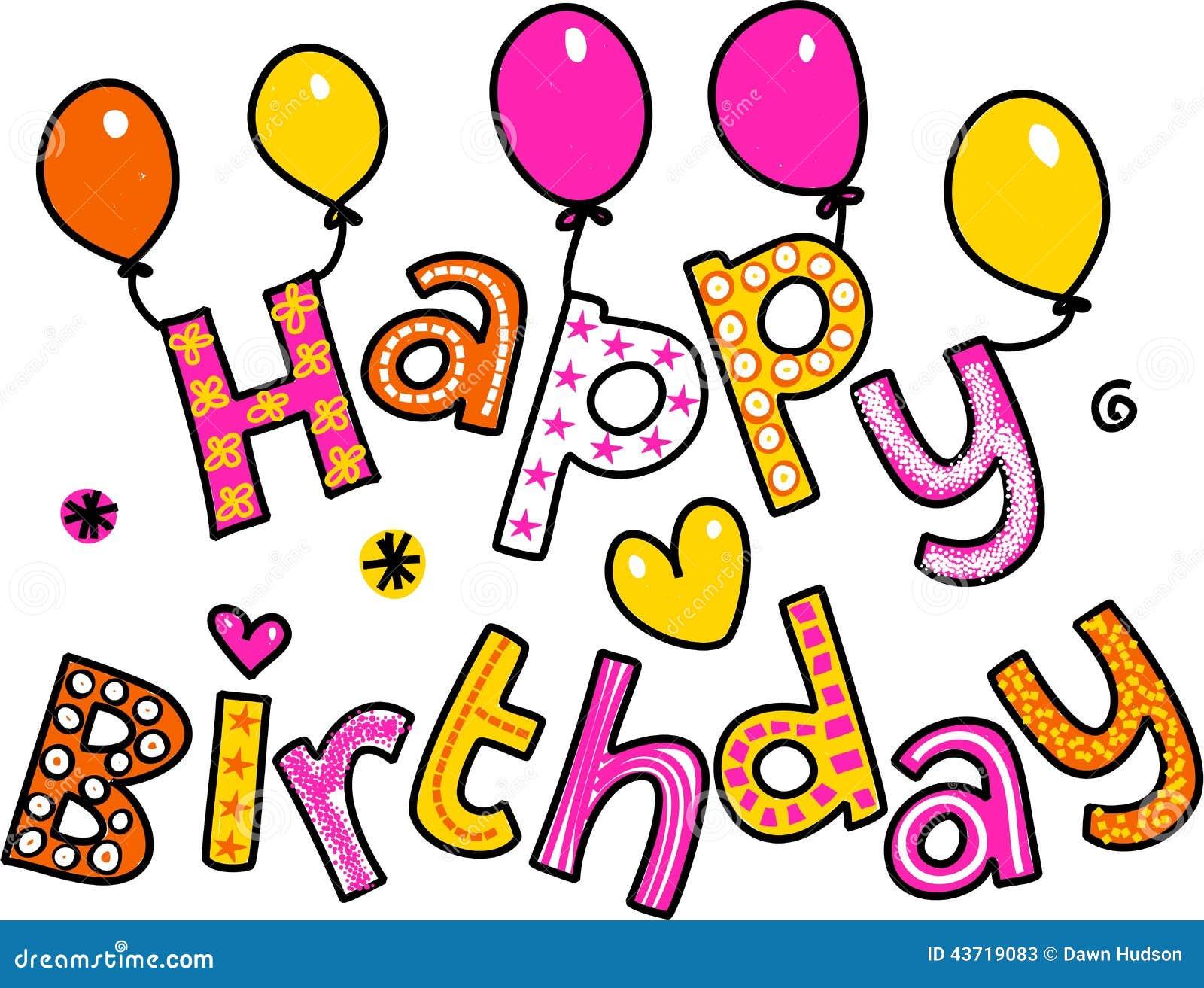 happy birthday cartoon text clipart stock illustration rh dreamstime com dreamtime clipart free Flags Clip Art Dreamstime