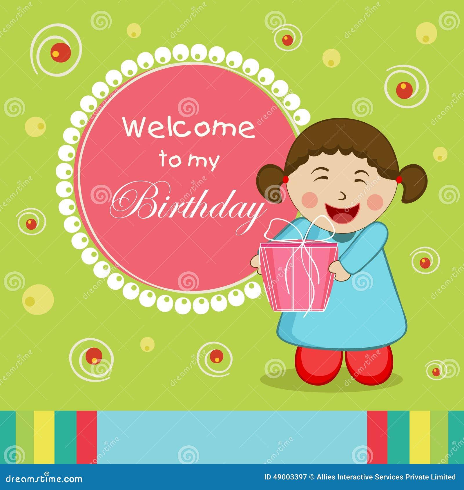 Happy Birthday Celebration Invitation Card Stock Illustration