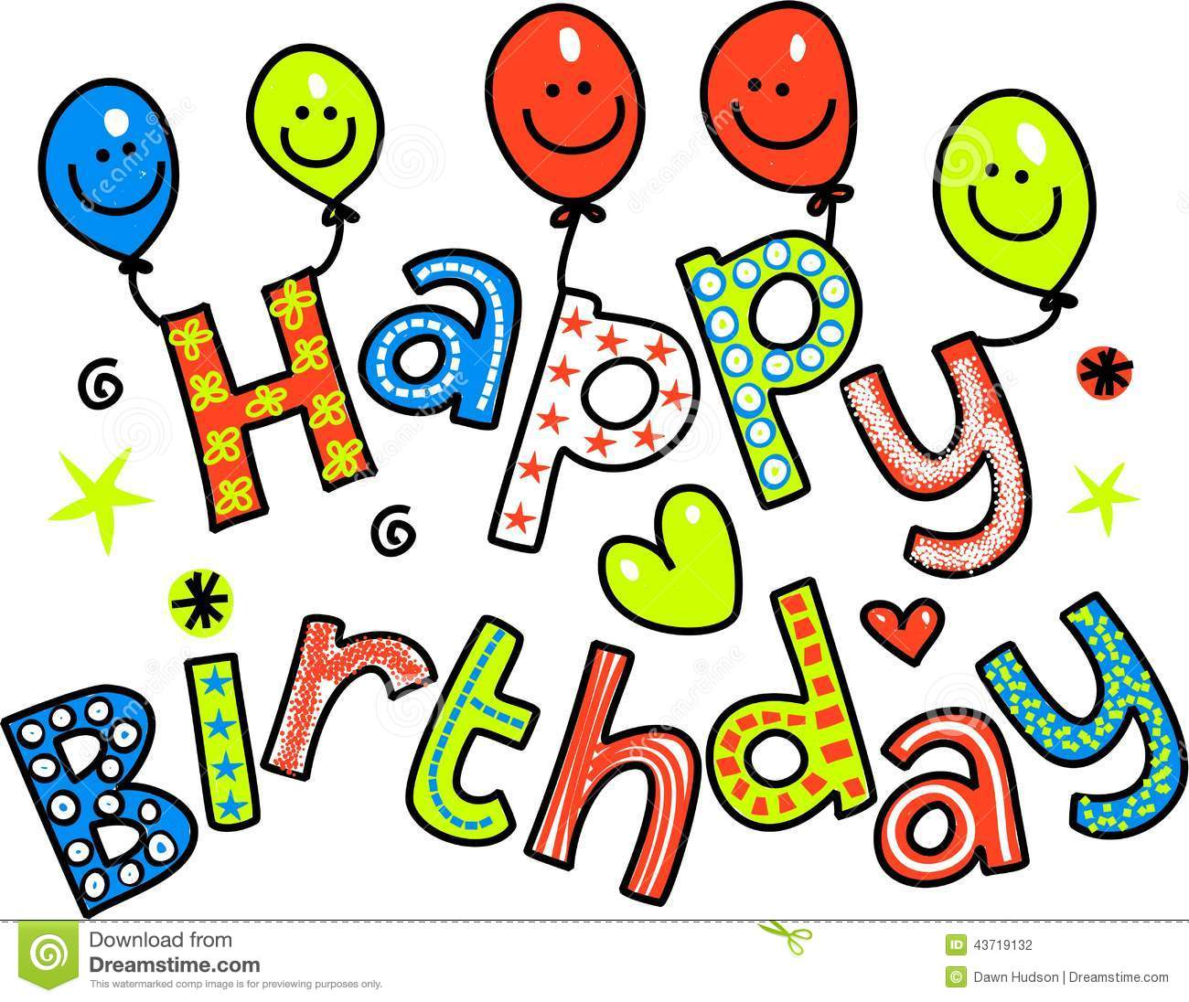 Happy Birthday Celebration Text Stock Illustration Illustration Of