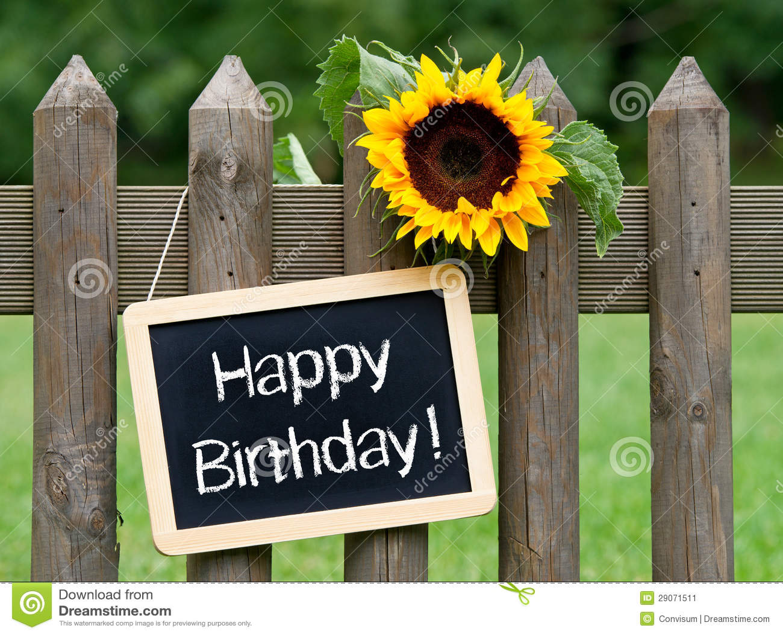 Happy Birthday Chalkboard Sign