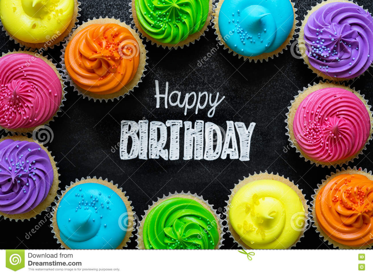 Happy Birthday Chalkboard Stock Image Image Of Colored