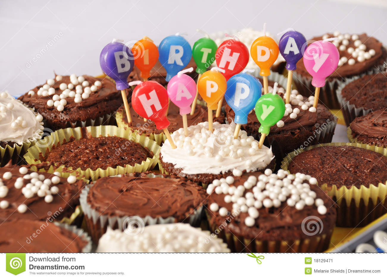 Happy Birthday Chocolate Cupcakes   www.galleryhip.com - The Hippest ...