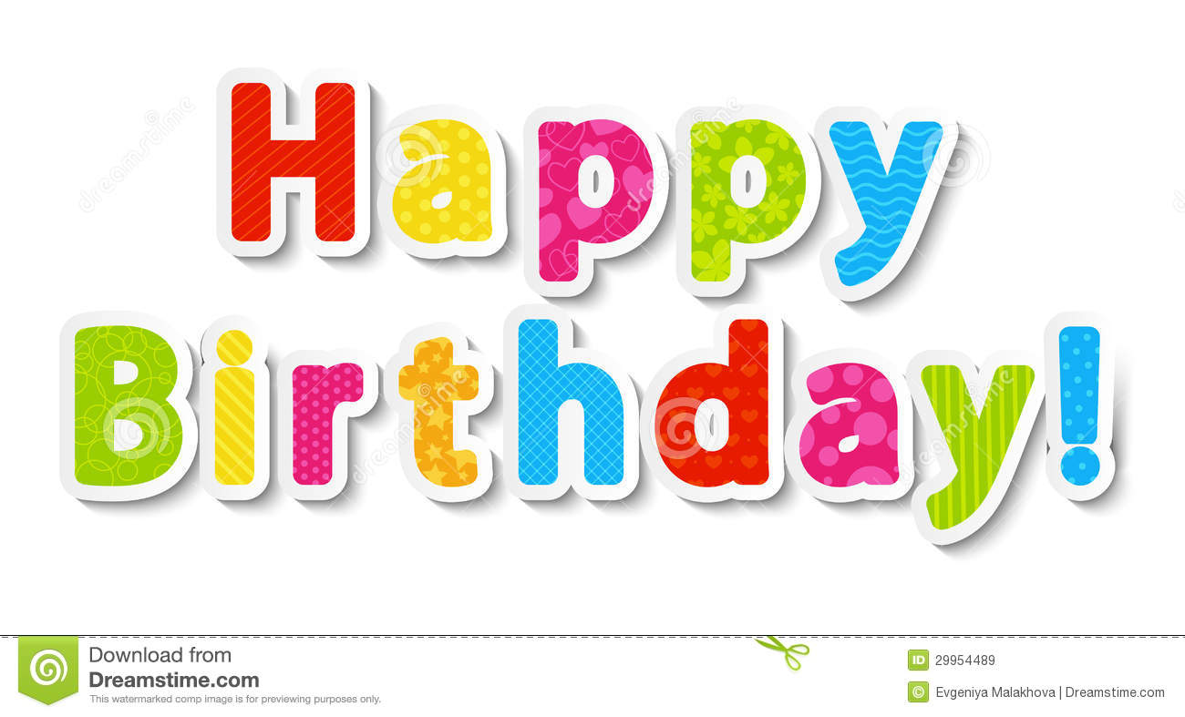 Happy Birthday Paper Letters Royalty Free Stock Images