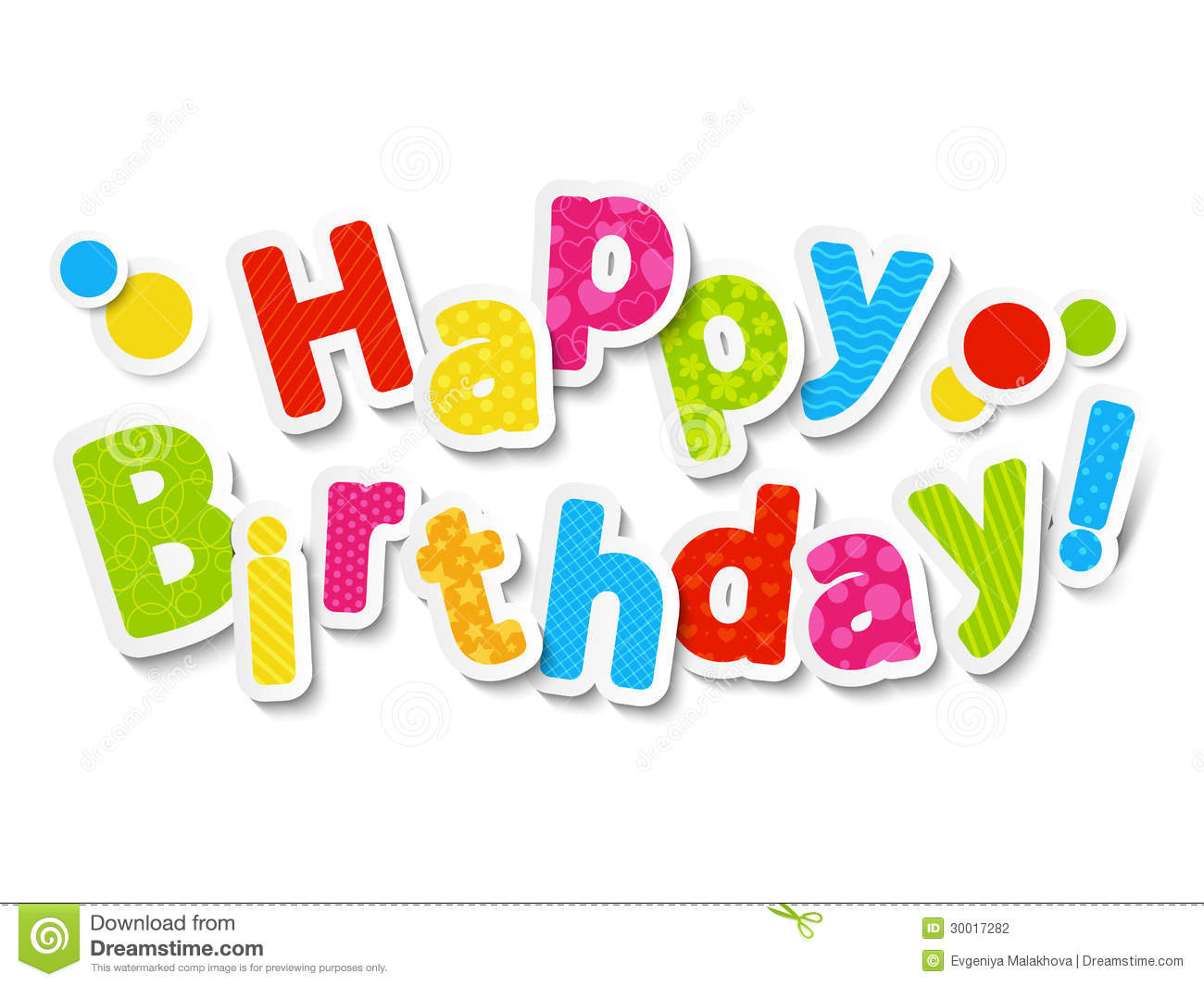 Happy Birthday Color Letters Stock Photography Image