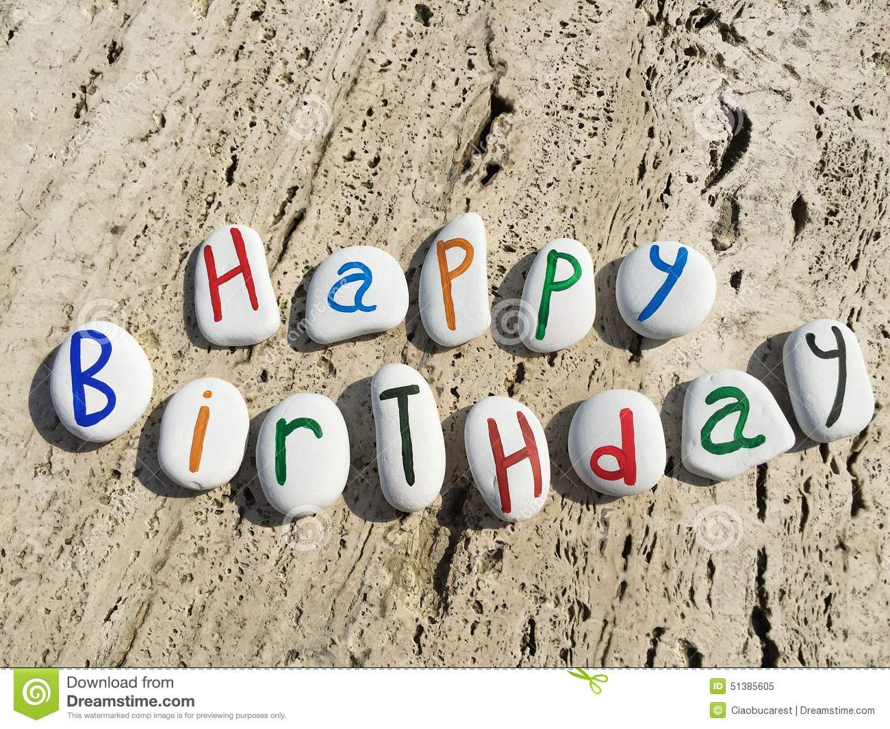 happy birthday colored stone letters grretings painted stones 51385605 birthday cake banner download 7 on birthday cake banner download