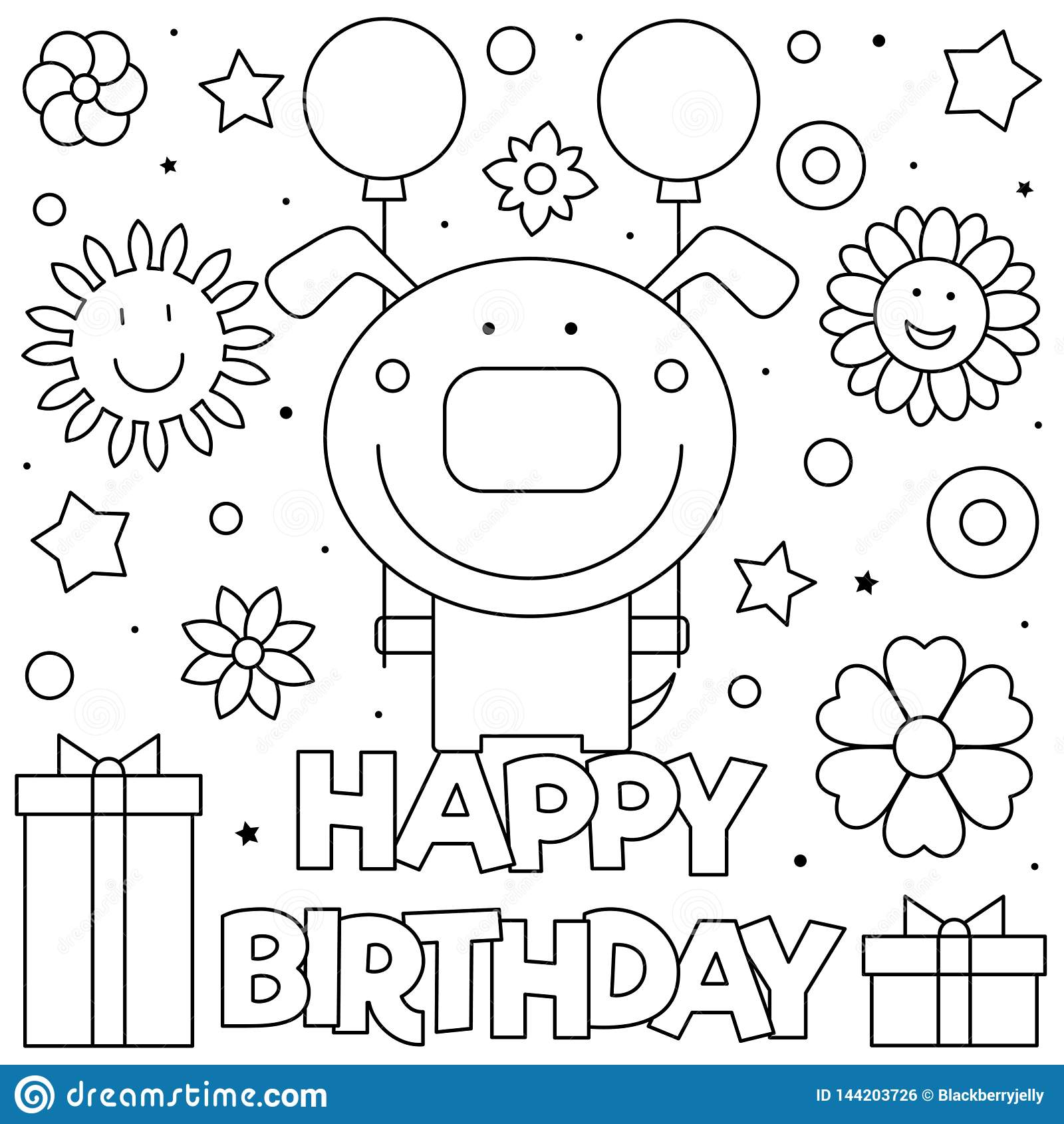 Happy Birthday Coloring Coloringnori Coloring Pages For Kids
