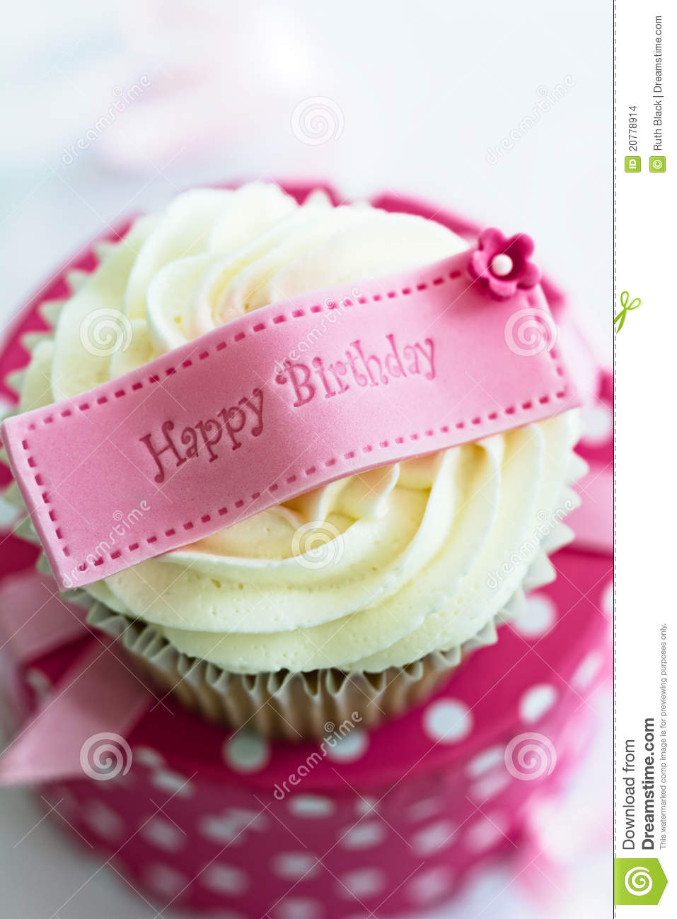 Happy Birthday Cupcake Stock Images - Image: 20778914