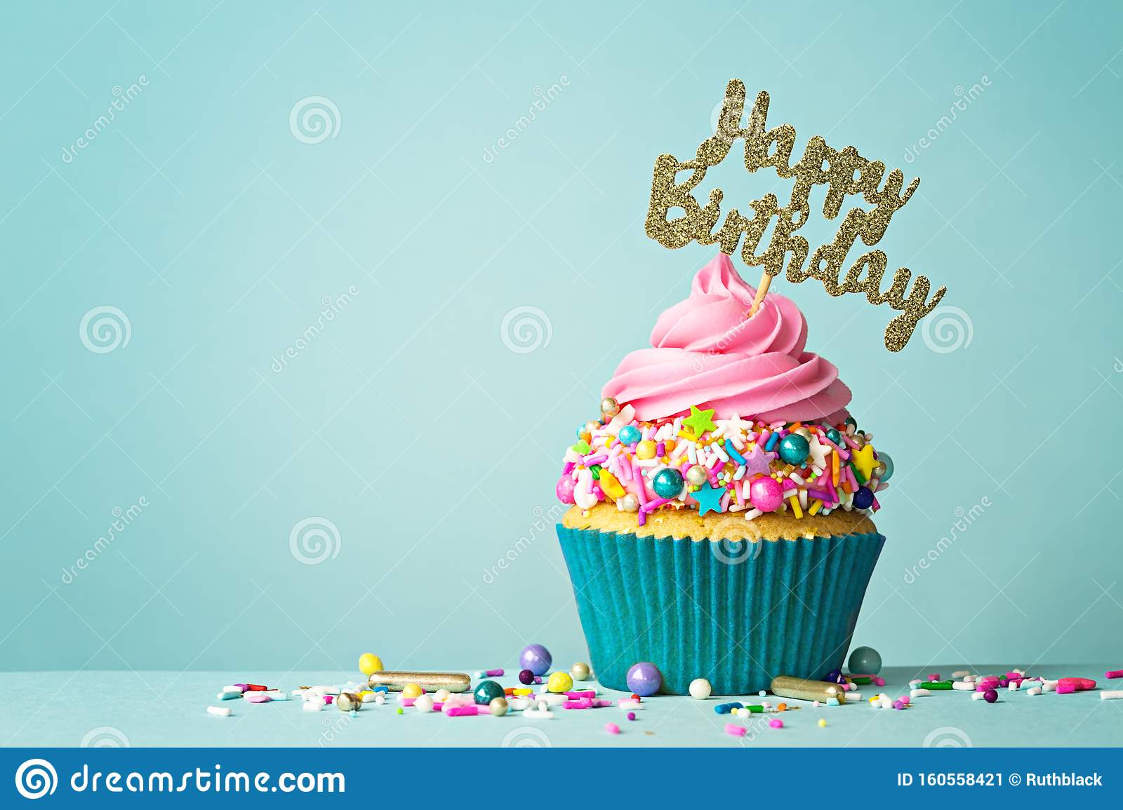 Phenomenal Happy Birthday Cupcake Stock Image Image Of Cupcakes 160558421 Personalised Birthday Cards Cominlily Jamesorg