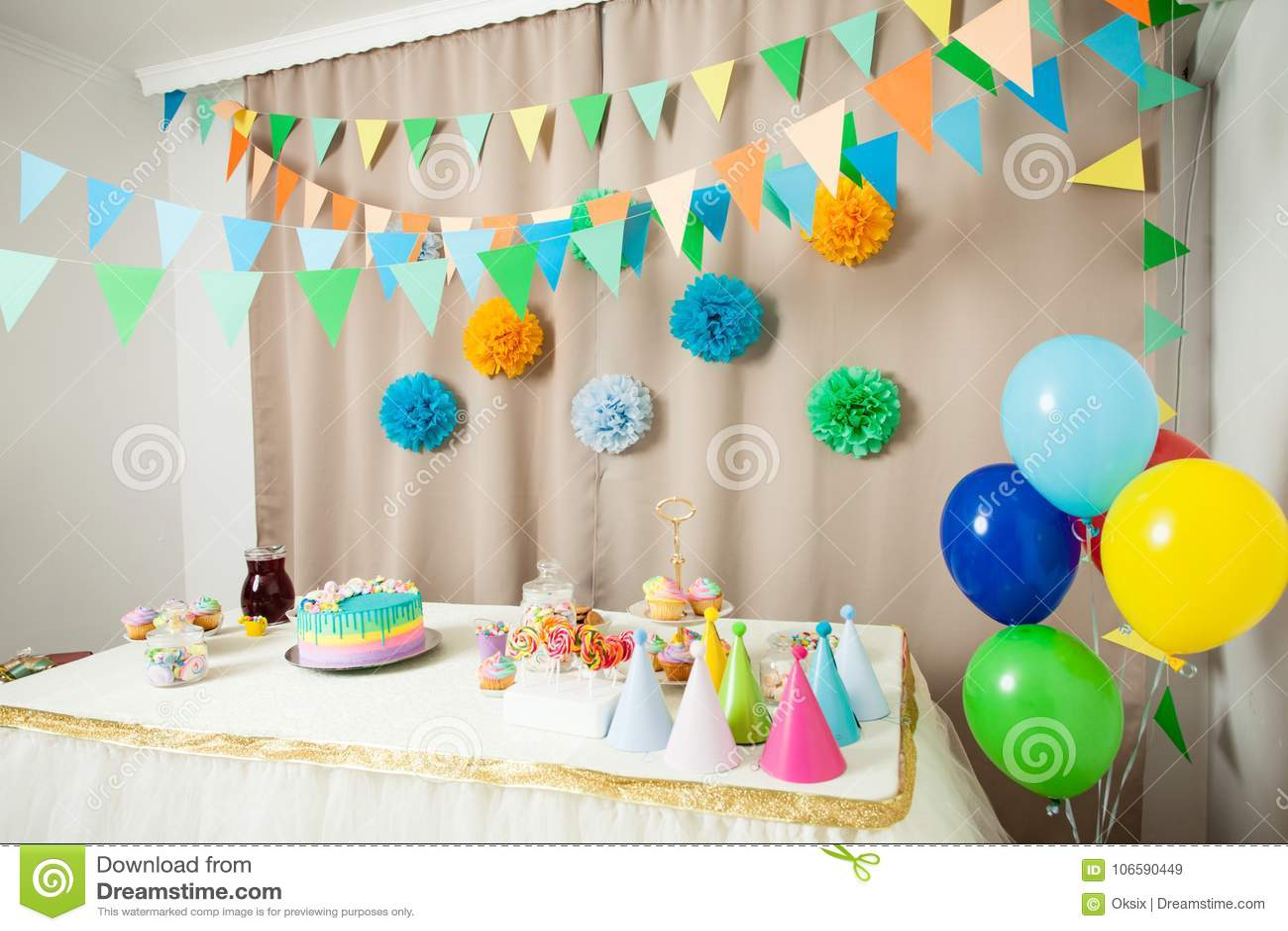 Happy Birthday Decoration Stock Image Image Of Holiday 106590449