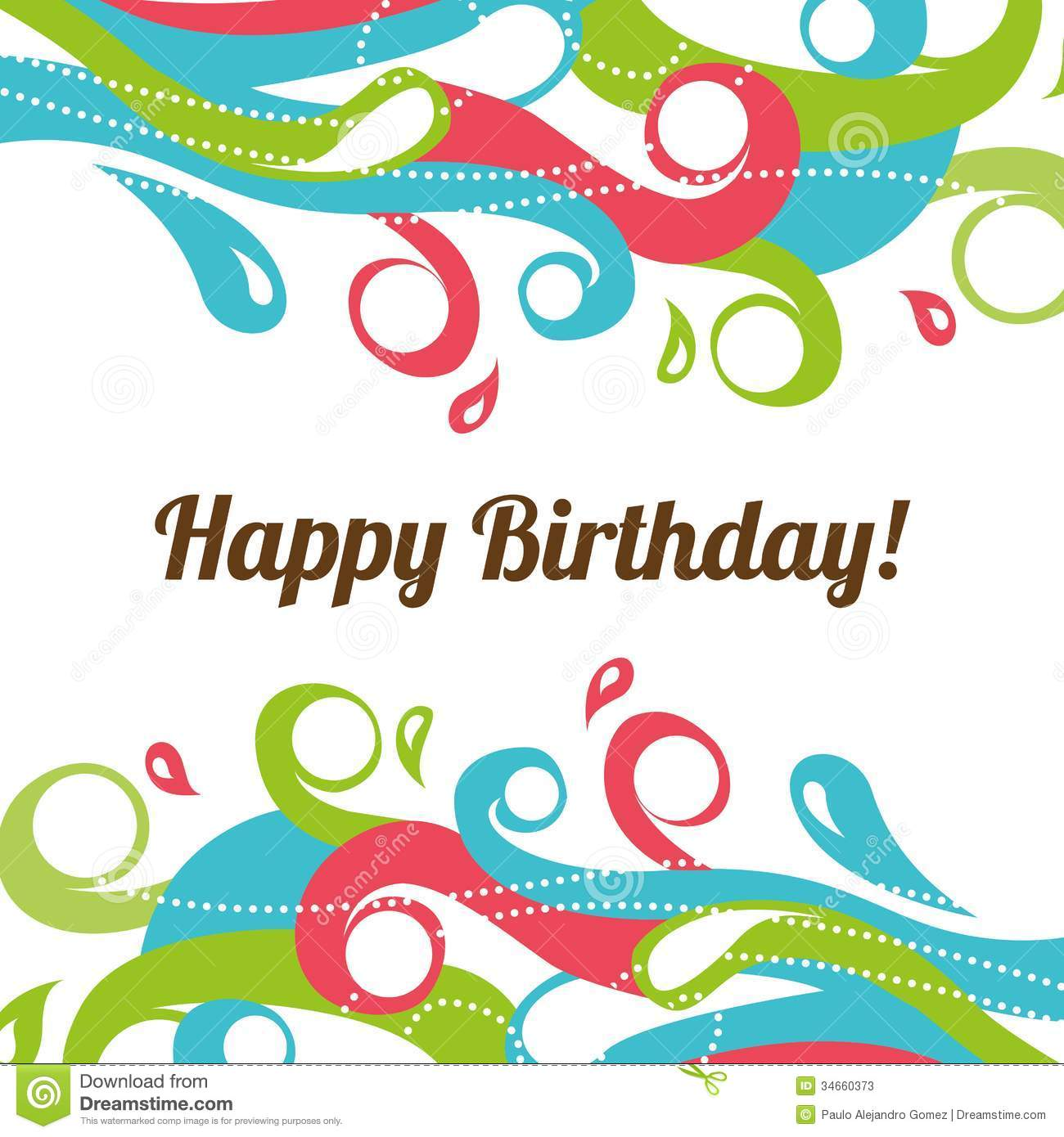 Happy birthday stock vector. Image of happiness, abstract - 34660373