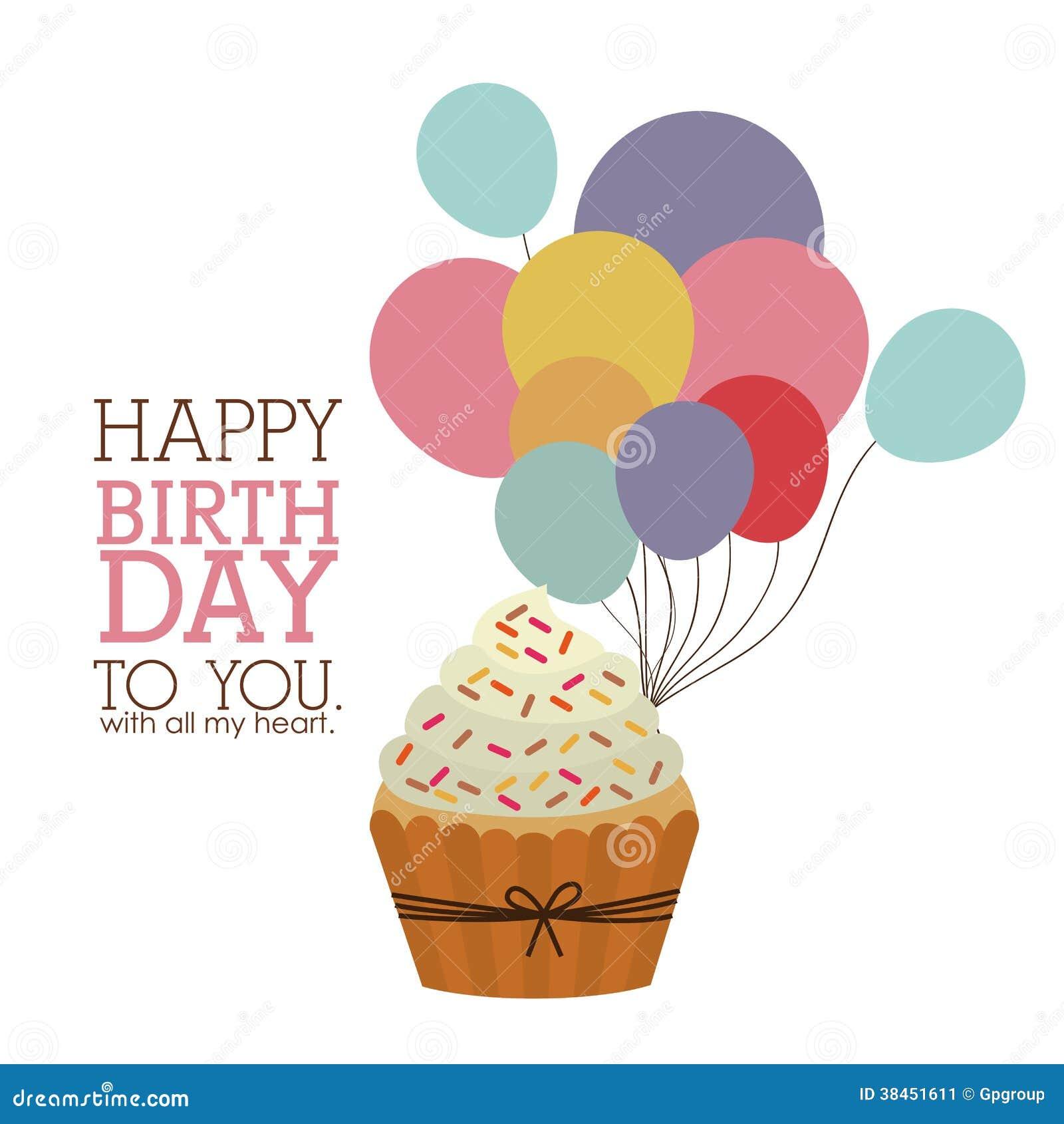 Retro happy birthday vector happy birthday vintage card with - Happy Birthday Design Stock Image Image 38451611