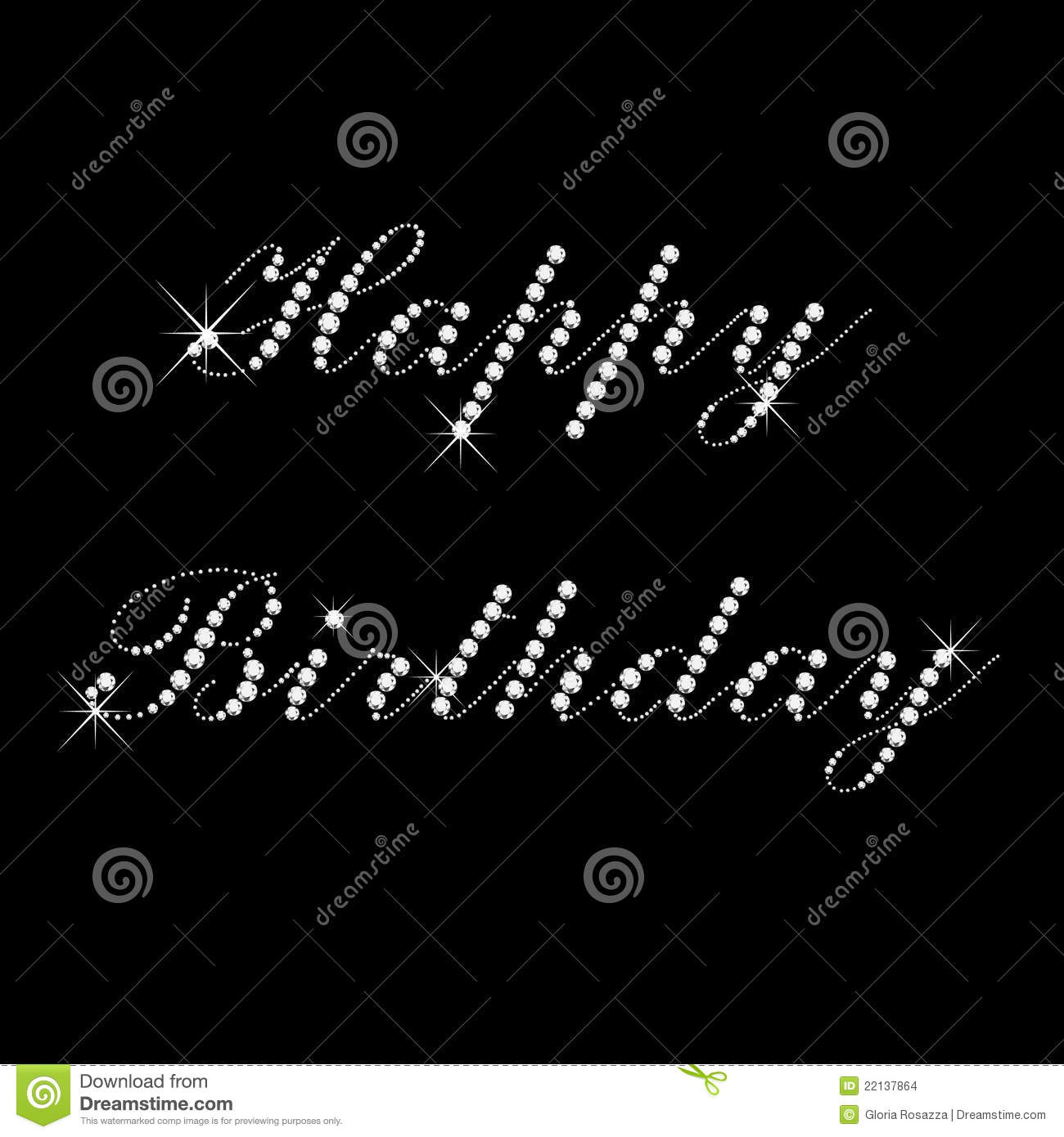 Happy Birthday With Diamonds Stock Images Image 22137864