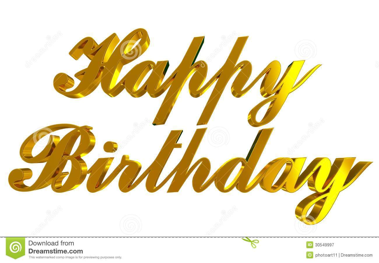 Happy Birthday stock illustration  Illustration of golden